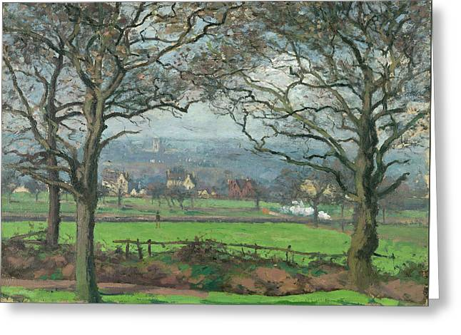 Near Sydenham Hill Greeting Card by Camille Pissarro