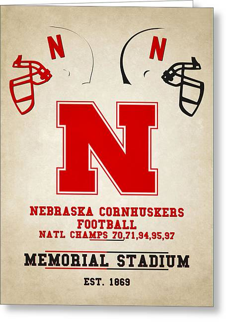 Nebraska Cornhuskers Greeting Card by Joe Hamilton