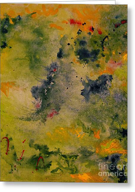 Greeting Card featuring the painting Nebula by Karen Fleschler