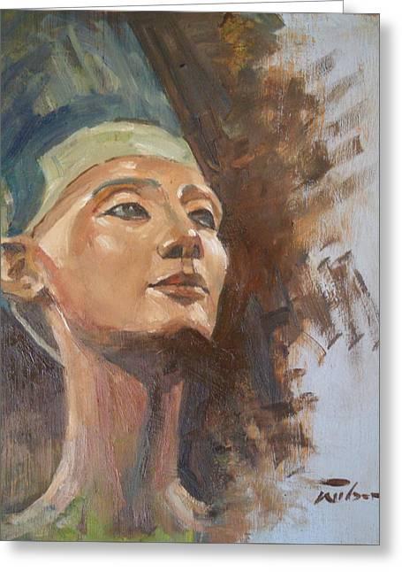 Nefertiti Greeting Card by Ron Wilson