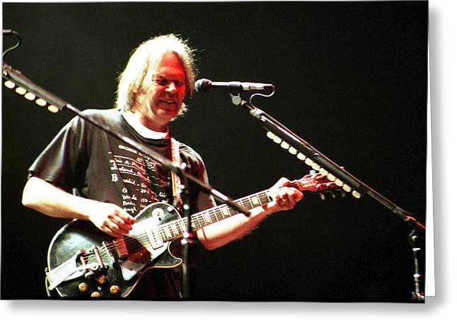 Neil Young Greeting Card by Wayne Doyle