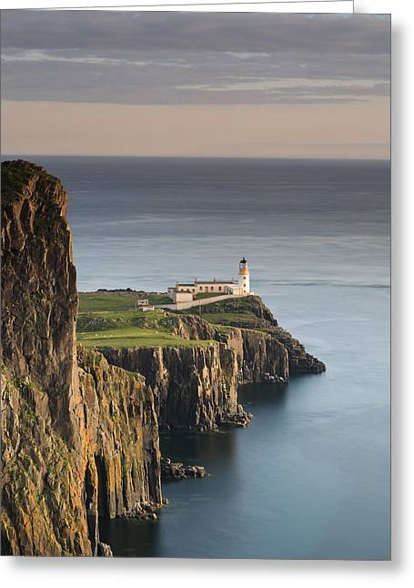 Neist Point At Sunset Greeting Card