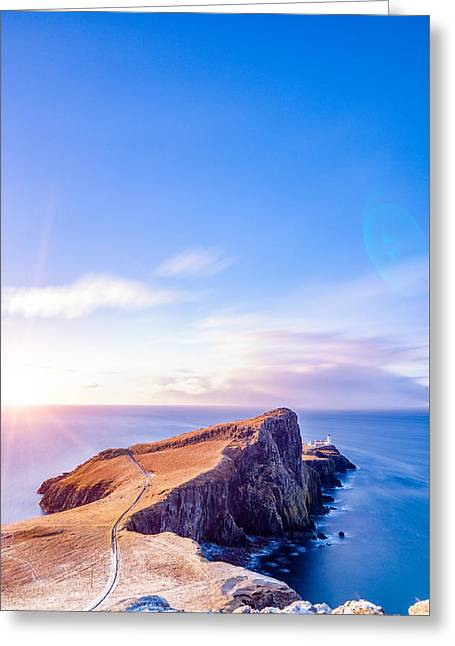 Neist Point Lighthouse At Dawn Greeting Card