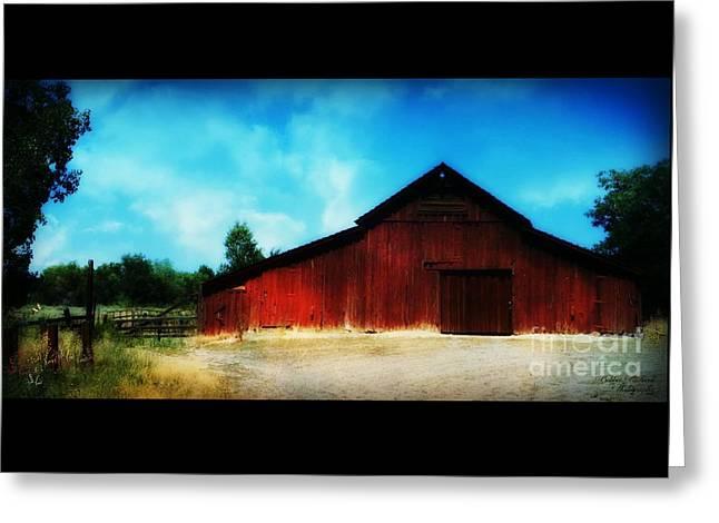 Nevada Barn  Greeting Card by Bobbee Rickard