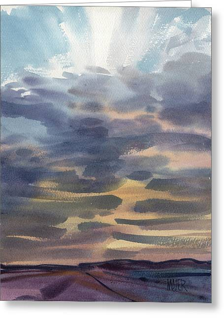 Nevada Sunset Greeting Card by Donald Maier