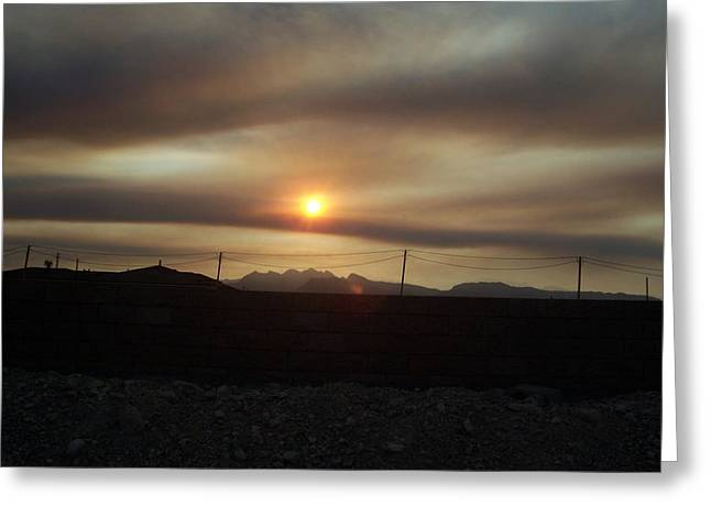 Nevada Sunset Greeting Card by Patricia  Williams