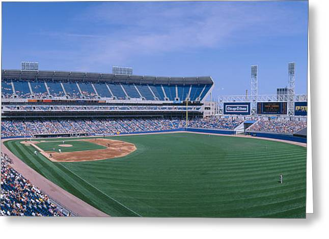 New Comiskey Park, Chicago, White Sox Greeting Card by Panoramic Images