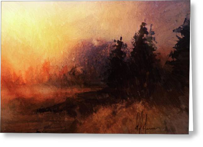 Morning Haze Greeting Card by Dwayne Jensen