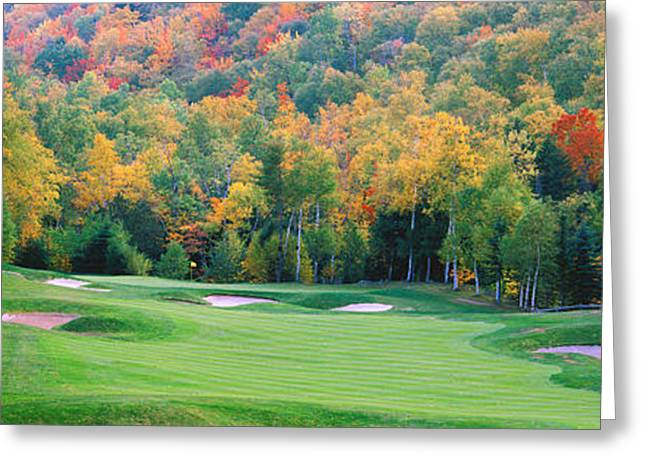 New England Golf Course New England Usa Greeting Card by Panoramic Images