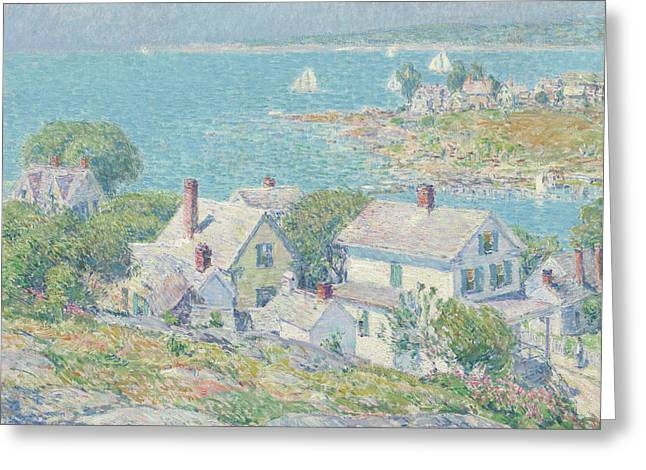 New England Headlands Greeting Card by Childe Hassam