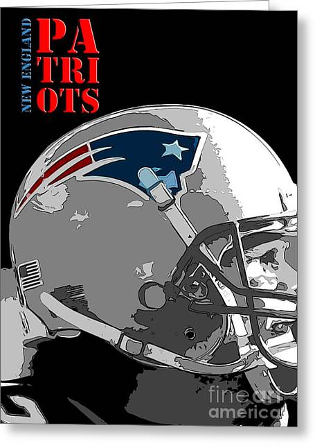 New England Patriots Original Typography Football Team Greeting Card by Pablo Franchi