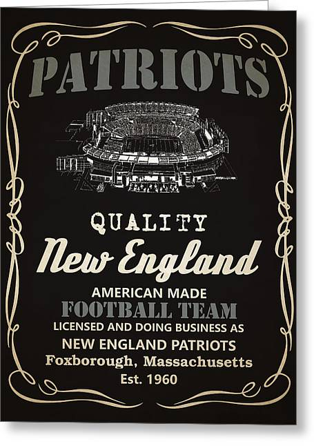 New England Patriots Whiskey Greeting Card