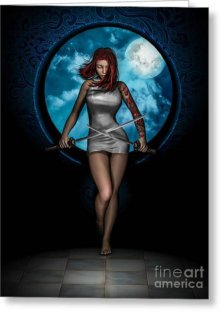 New Moon Greeting Card by Alexander Butler