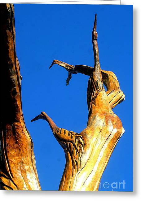New Orleans Bird Tree Sculpture In Louisiana Greeting Card