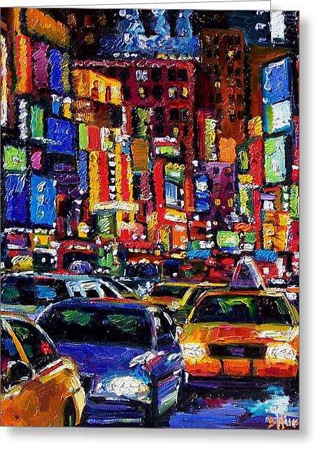 New York City Greeting Card by Debra Hurd