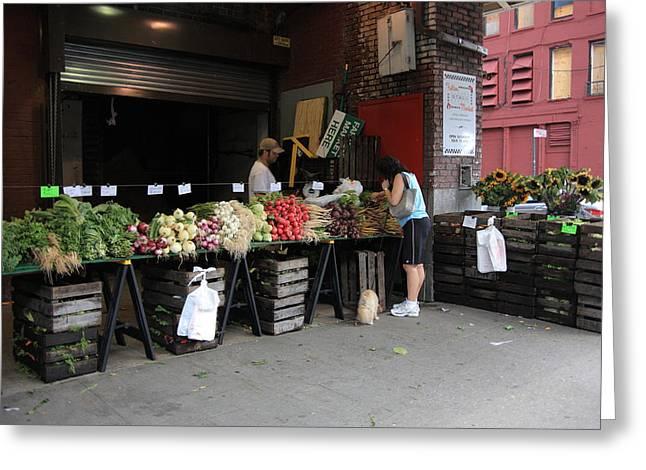 New York City Market Greeting Card by Frank Romeo
