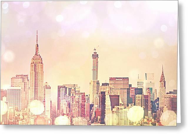 New York City - Skyline Greeting Card by Vivienne Gucwa