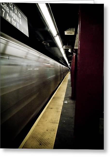 New York City Subway Greeting Card by Patrick  Flynn