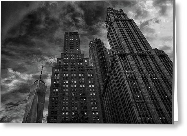 New York Highrise Greeting Card by Martin Newman