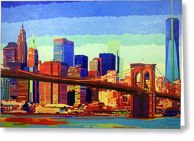 New York In Color Greeting Card by Tracy Dupuis Roland