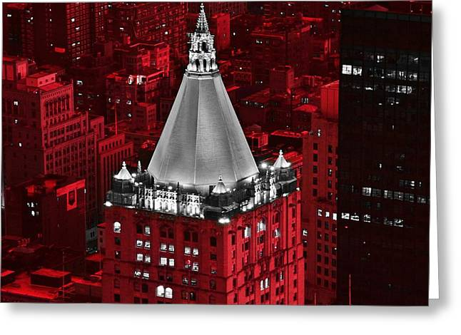 New York Life Building Greeting Card by Marianna Mills