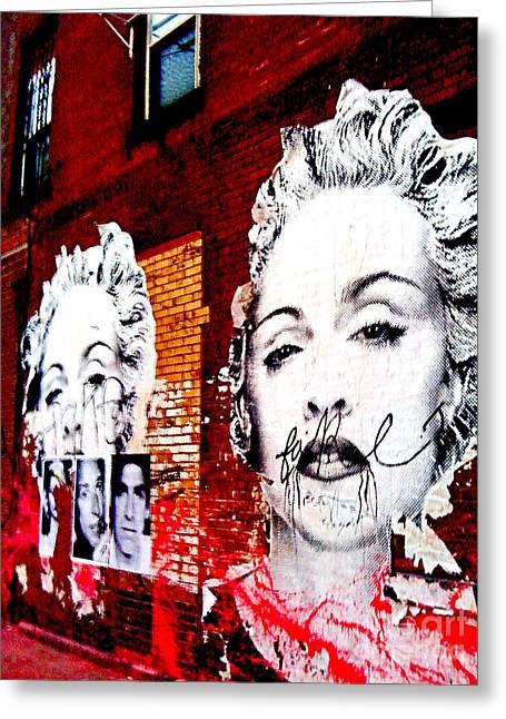New York Madonna Greeting Card by Simonne Mina