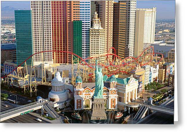 New York New York Casino, Las Vegas Greeting Card by Panoramic Images