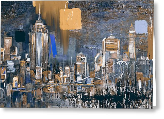 New York Skyline 198 3 Greeting Card