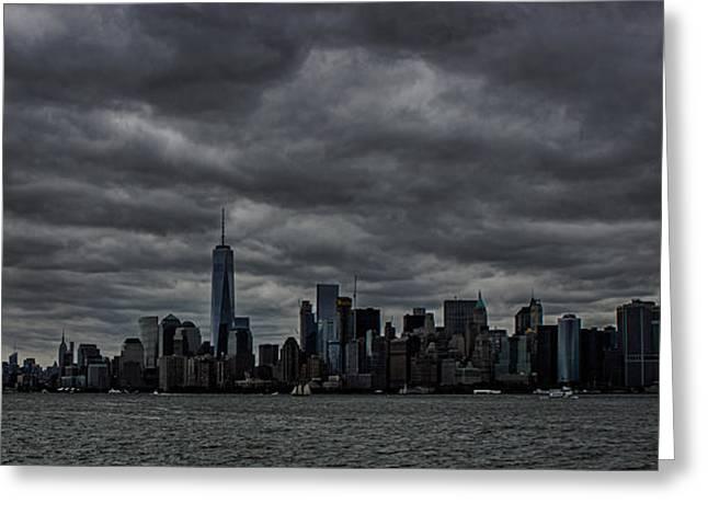 New York Skyline Greeting Card by Martin Newman