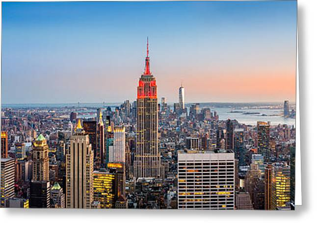 New York Skyline Panorama Greeting Card