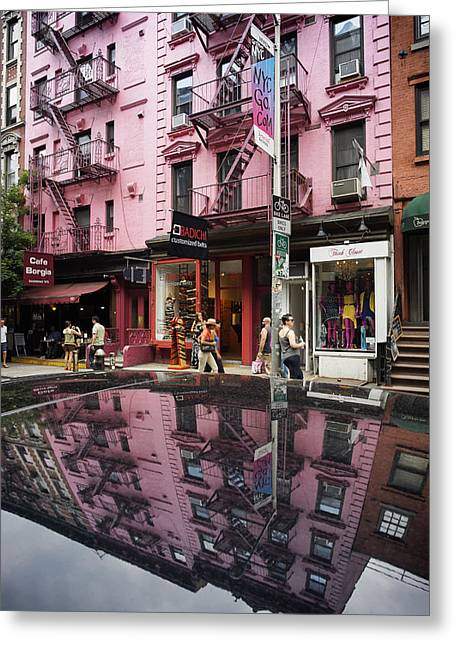 Greeting Card featuring the photograph New York Soho  by Juergen Held