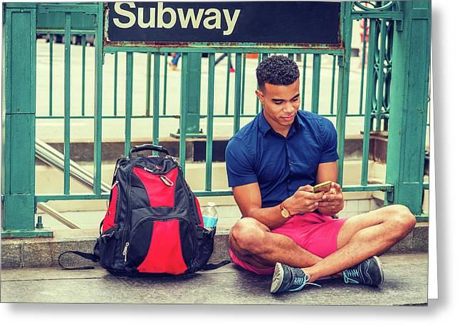 New York Subway Station Greeting Card