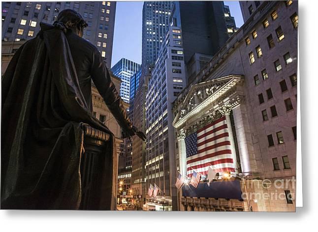 New York Wall Street Greeting Card
