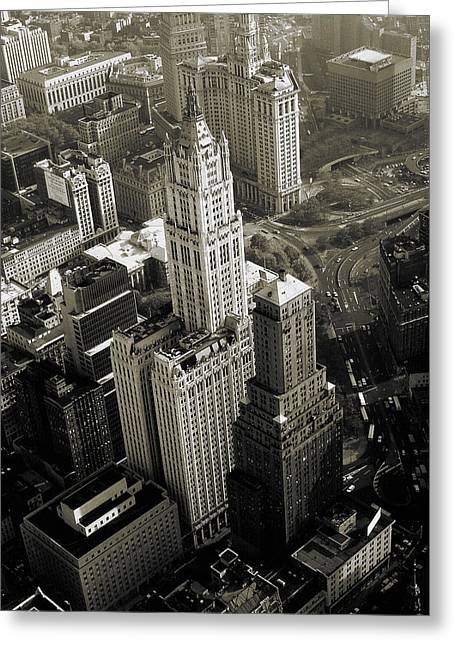 New York Woolworth Building - Vintage Photo Art Print Greeting Card by Art America Online Gallery