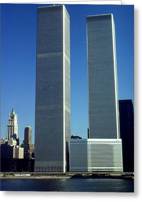 New York World Trade Center Before 911 Photo Greeting Card