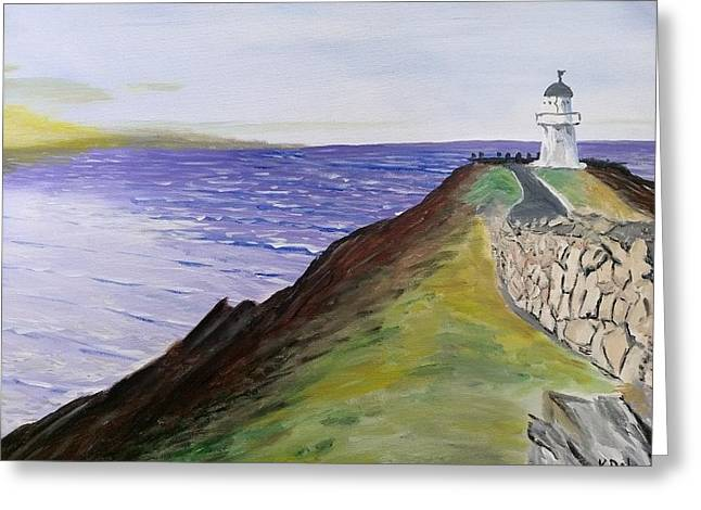 New Zealand Lighthouse Greeting Card