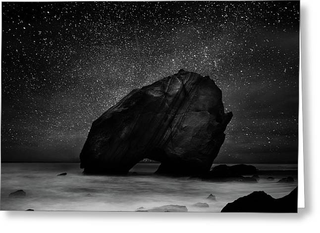 Greeting Card featuring the photograph Night Guardian by Jorge Maia