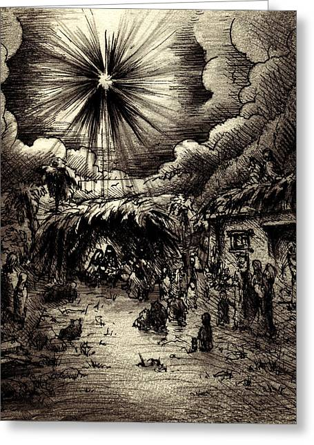 Night In Bethlehem Greeting Card