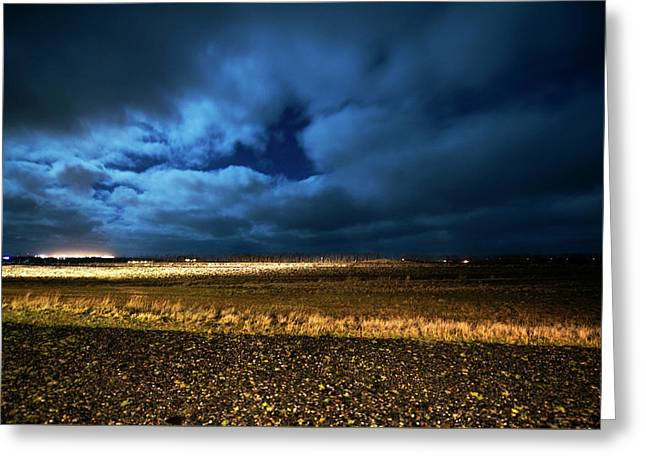 Greeting Card featuring the photograph Icelandic Night  by Dubi Roman