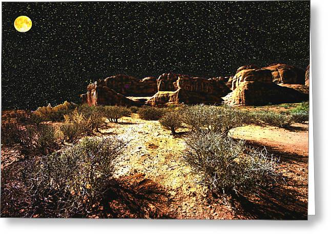 Night In The Arches Greeting Card