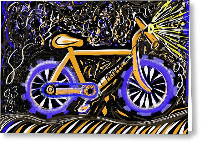 Night Ride II Greeting Card by Colleen Proppe