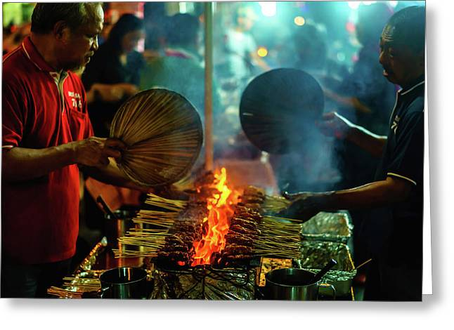 Night Satay II Greeting Card