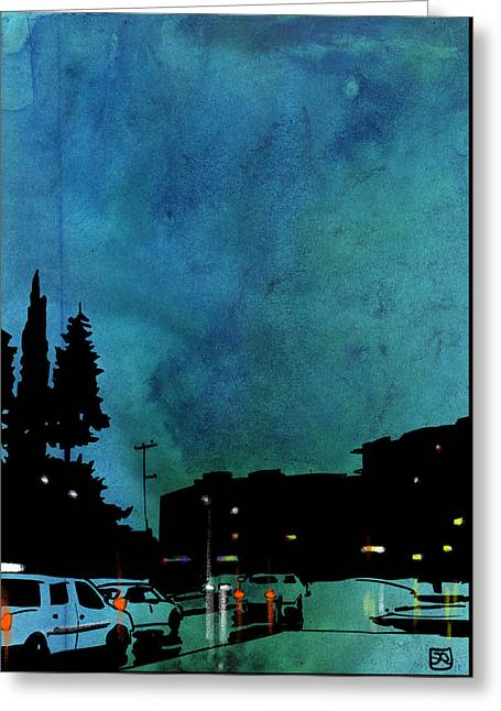 Nightscape 03 Greeting Card