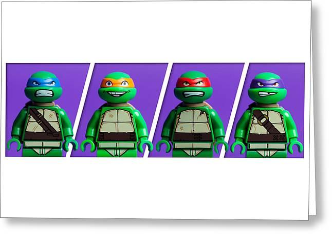 Ninja Turtles Greeting Card by Samuel Whitton