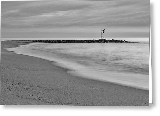 Nj Shore Jetty First Light Greeting Card
