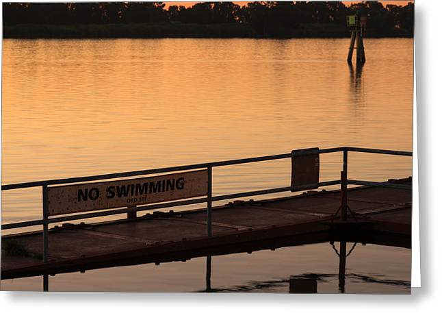 No Swimming Rio Vista Ca Greeting Card by Troy Montemayor