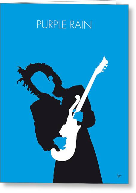 No009 My Prince Minimal Music Poster Greeting Card by Chungkong Art