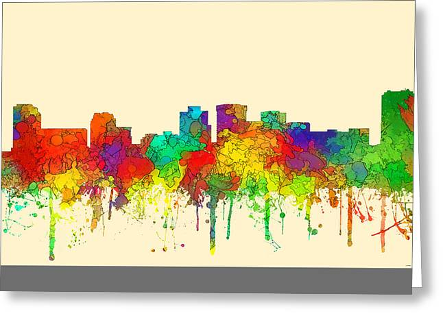 Norfolk Virginia Skyline Greeting Card