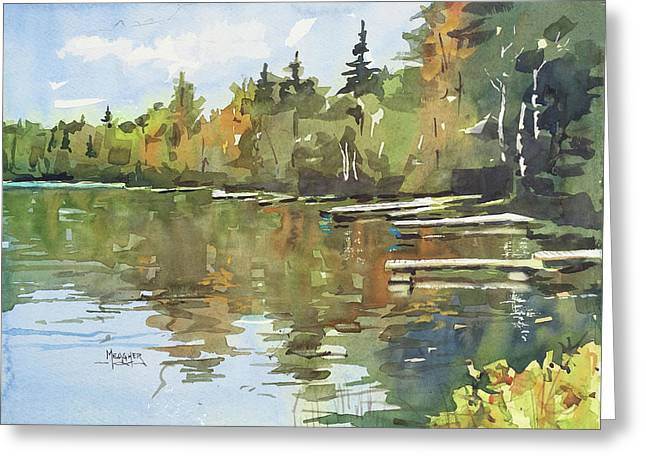North Country Reflections Greeting Card by Spencer Meagher