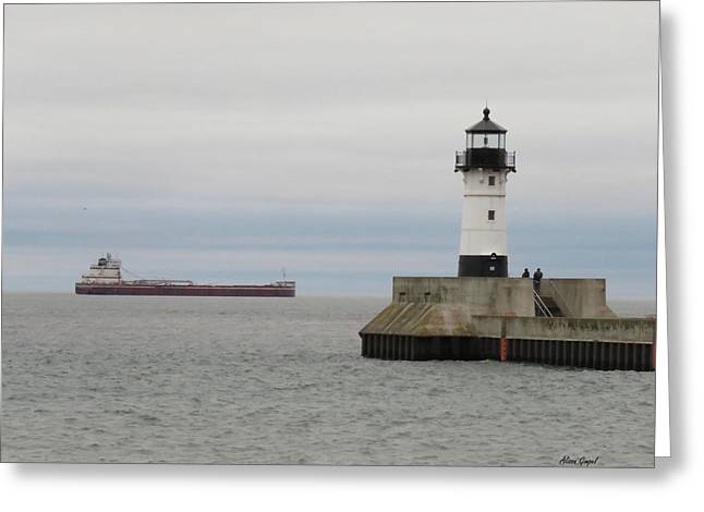 North Pier Greeting Card by Alison Gimpel